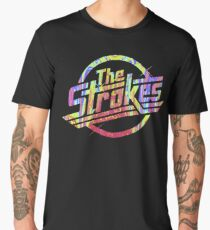 The Strokes - Psychedelic Logo Men's Premium T-Shirt