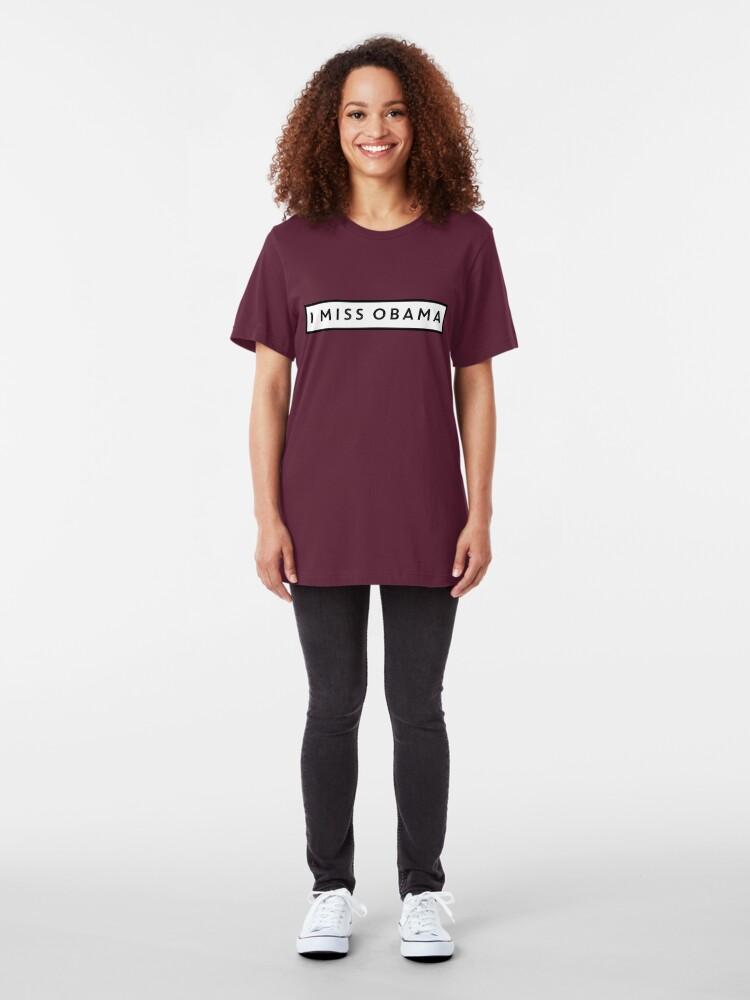 Alternative Ansicht von Ich vermisse Obama Slim Fit T-Shirt