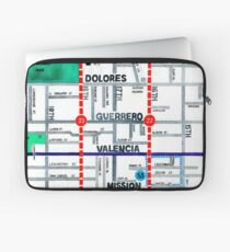 San Francisco map - Mission Laptop Sleeve