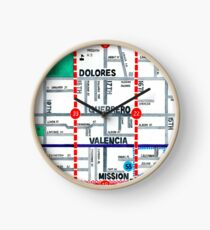 San Francisco map - Mission Clock