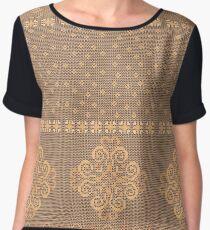 Christmas knitted pattern Women's Chiffon Top