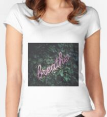 Breathe in the forest Women's Fitted Scoop T-Shirt