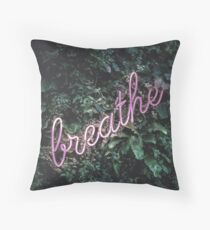 Breathe in the forest Throw Pillow