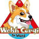 Welsh Corgi On Board - Pembroke by DoggyGraphics