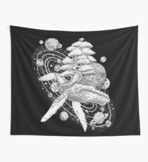 Space Whale Wall Tapestry