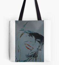 Woman in Baseball cap Tote Bag