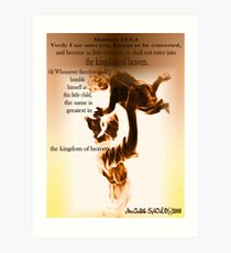 As a Little Child Come to Me Jesus said Art Print