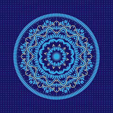 Mandala 010 Blue Mix by creativewear