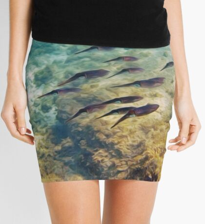 Caribbean Reef Squid in Oils Mini Skirt