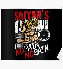NO PAIN NO GAIN - GYM Poster