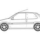 Citroen Saxo VTS Outline Artwork by RJWautographics