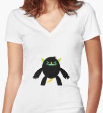 Monster Womens Fitted V Neck T Shirt