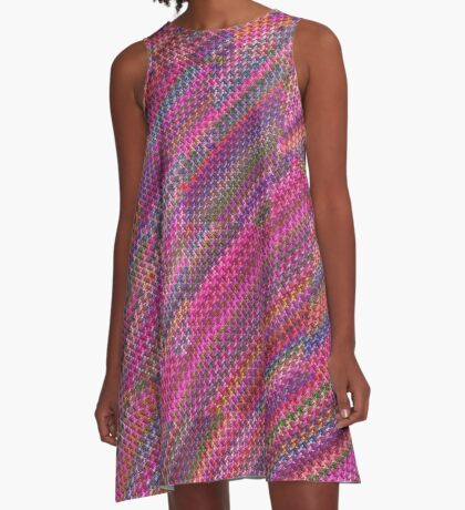 Pretty Pink Rainbow A-Line Dress