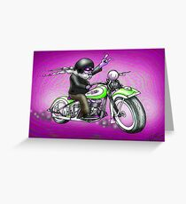 PSYCHEDELIC HARLEY STYLE MOTORCYCLE DESIGN Greeting Card