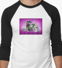 PSYCHEDELIC HARLEY STYLE MOTORCYCLE DESIGN Men's Baseball ¾ T-Shirt