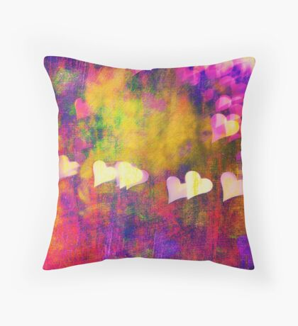 Warm Hearted Throw Pillow