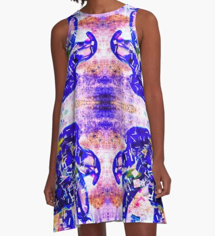 Mirrored Blues A-Line Dress