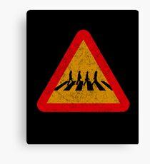Beatles Xing Sign Canvas Print