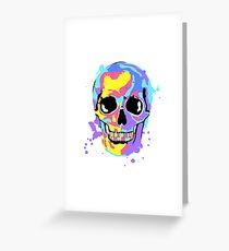 The artist's skull Greeting Card