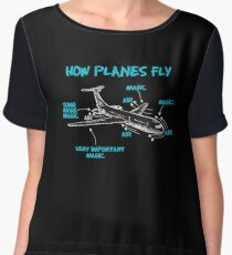 Funny Engineering T Shirts Gifts-How Plane Fly for Womens Mens Chiffon Top