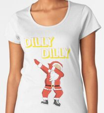 Dilly Dilly Dabbing Santa T-shirt Women's Premium T-Shirt