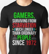 Gamers surviving Funny Gaming T-shirt T-Shirt