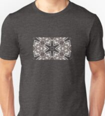 Leather snowflakes,  Black, gray, white, hand stitched - Winter Theme T-Shirt