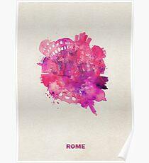 Rome, Italy Skyround Art / Circular Panoramic Skyline Painting Poster