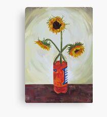 Irn Bru Sunflowers Canvas Print