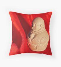 Chinese Buddha Statuette Throw Pillow