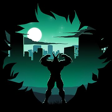 All Might Silhouette by ToastMonsters