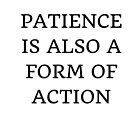 PATIENCE IS ALSO A FORM OF ACTION by IdeasForArtists