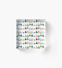 Christmas tree ribbon  Acrylic Block