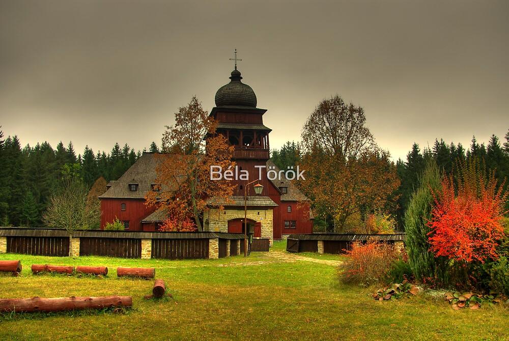 Articulated Wooden Church Svätý Kríž by Béla Török