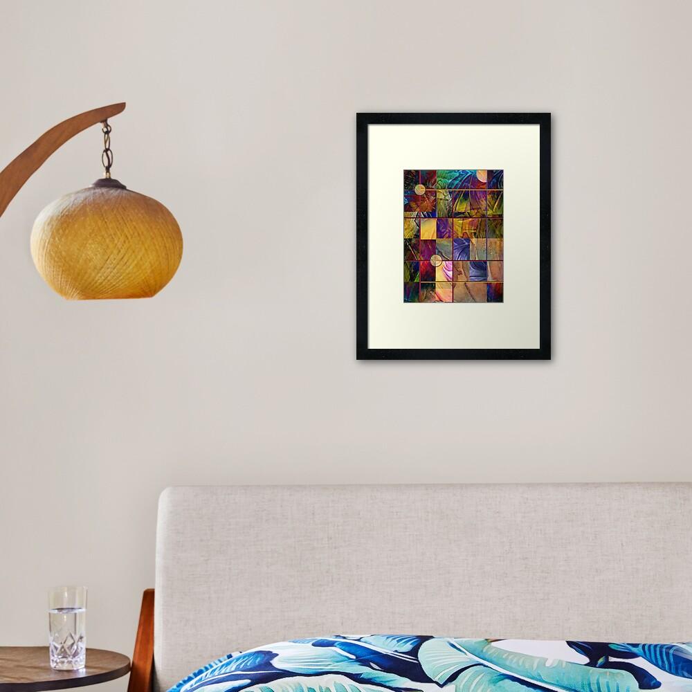 Emotive Tapestry Framed Art Print