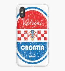 Football - Croatia (Distressed) iPhone Case/Skin