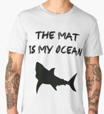 BJJ Brazilian Jiu-Jitsu Wrestling Grappling Mat Shark Men's Premium T-Shirt