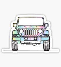 Tie Dye Jeep Sticker
