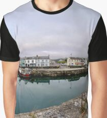 Hurry Head Harbour, Carnlough, County Antrim Graphic T-Shirt