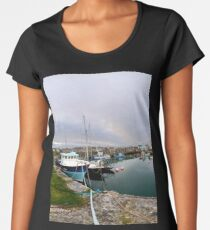 Hurry Head Harbour, Carnlough, County Antrim Women's Premium T-Shirt