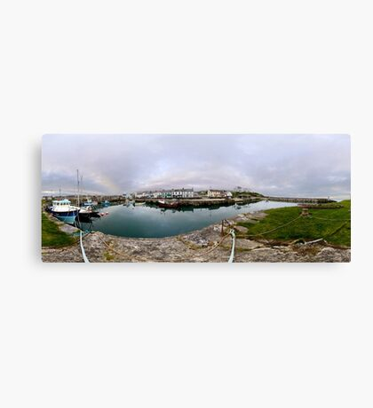 Hurry Head Harbour, Carnlough, County Antrim Canvas Print