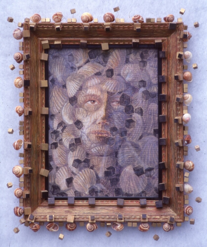 Inner Cacophany - Abstract Shells Into A Face by Nancy Mauerman