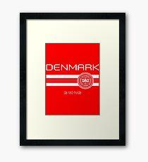 Football - Denmark (Home Red) Framed Print