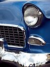 1955 Blue Chevy Front End by Anna Lisa Yoder