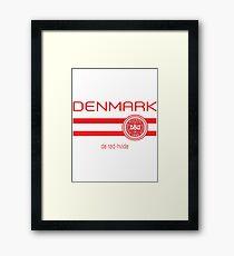 Football - Denmark (Away White) Framed Print