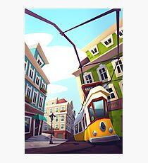 Lisbon City Illustration Photographic Print