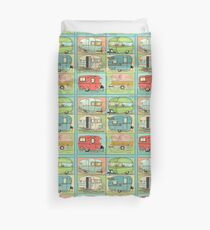 Camping Glamping in Vintage Trailers! Duvet Cover