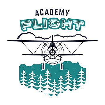 Typography Label. Flight Academy by JeksonJS