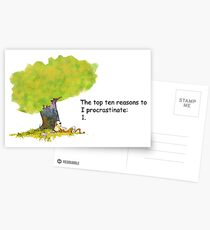 Calvin is a procrastinator Postcards