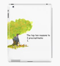 Calvin is a procrastinator iPad Case/Skin